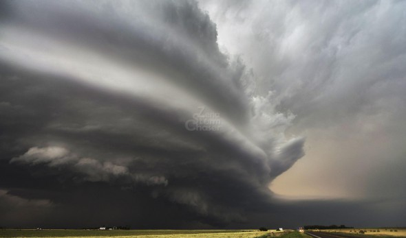 Supercelle con tornado finale