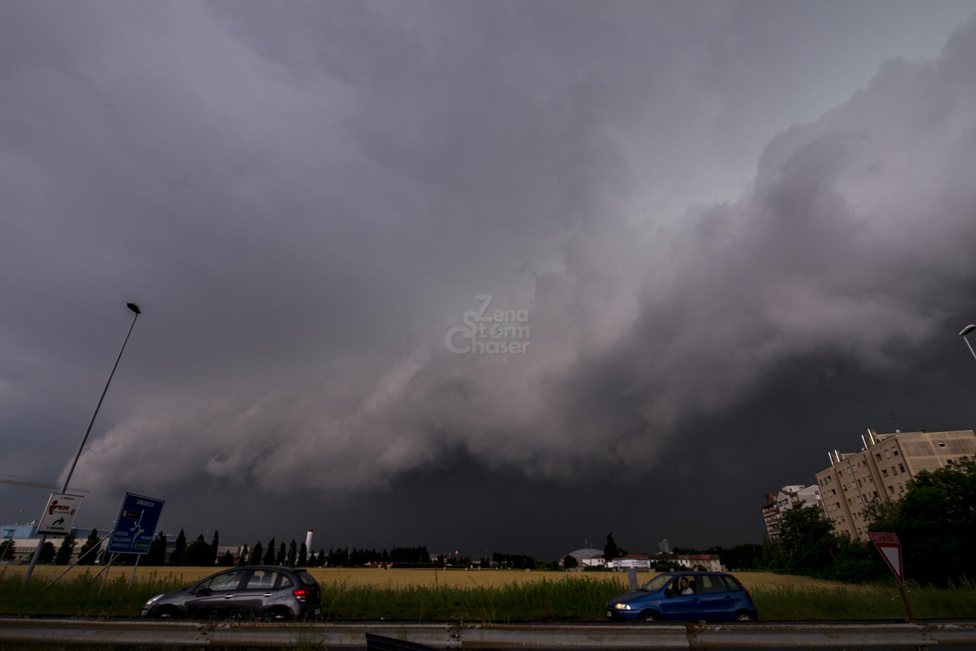 Monza Milano, sabato 2 luglio_1 shelf cloud
