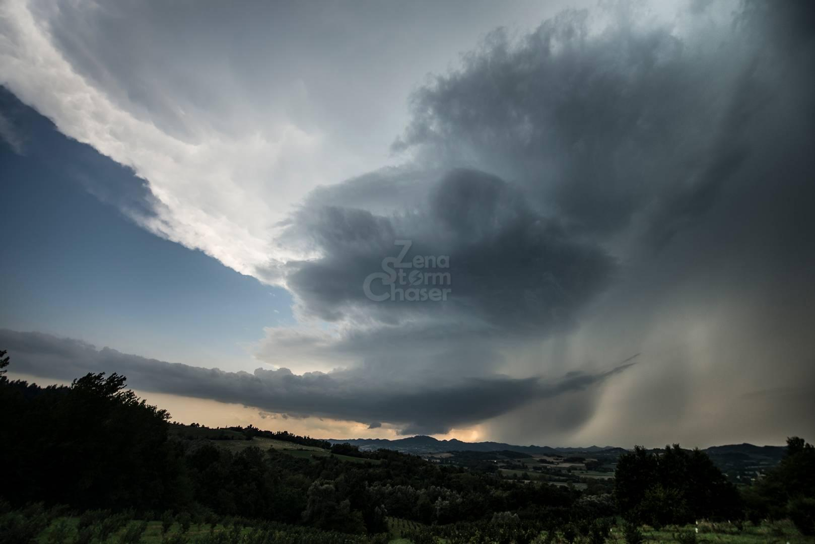 SUPERCELLA LOW PRECIPITATION CASALE MONFERRATO, 11 AGOSTO 2019